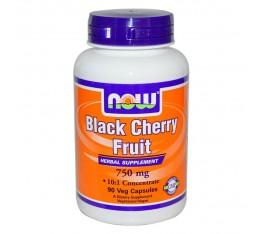 NOW - Black Cherry Fruit 750 mg - 90 caps. Хранителни добавки, Здраве и тонус