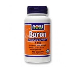 NOW - Boron 3 mg. / 100 caps. Хранителни добавки, Витамини, минерали и др.