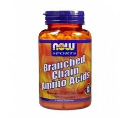 NOW - Branched Chain Amino Acids / 120 caps. Хранителни добавки, Аминокиселини, Разклонена верига (BCAA)