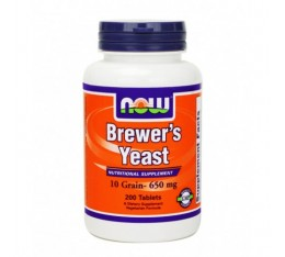 NOW - Brewers Yeast 650mg. / 200 tabs.