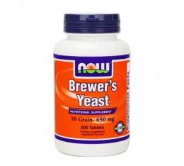 NOW - Brewers Yeast 650mg. / 200 tabs. Хранителни добавки, Витамини, минерали и др., Витамин B