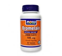 NOW - Bromelain 2000 GDU 500mg / 60caps Хранителни добавки, Здраве и тонус, Ензими
