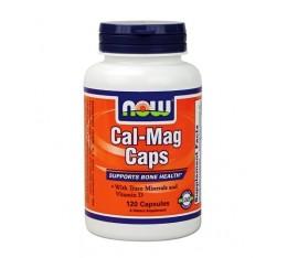 NOW - Cal-Mag / 120 Caps. Хранителни добавки, Витамини, минерали и др., Калций и Магнезий