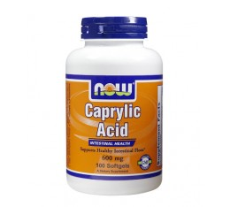 NOW - Caprylic Acid 600mg. / 100 softgels Хранителни добавки, Здраве и тонус