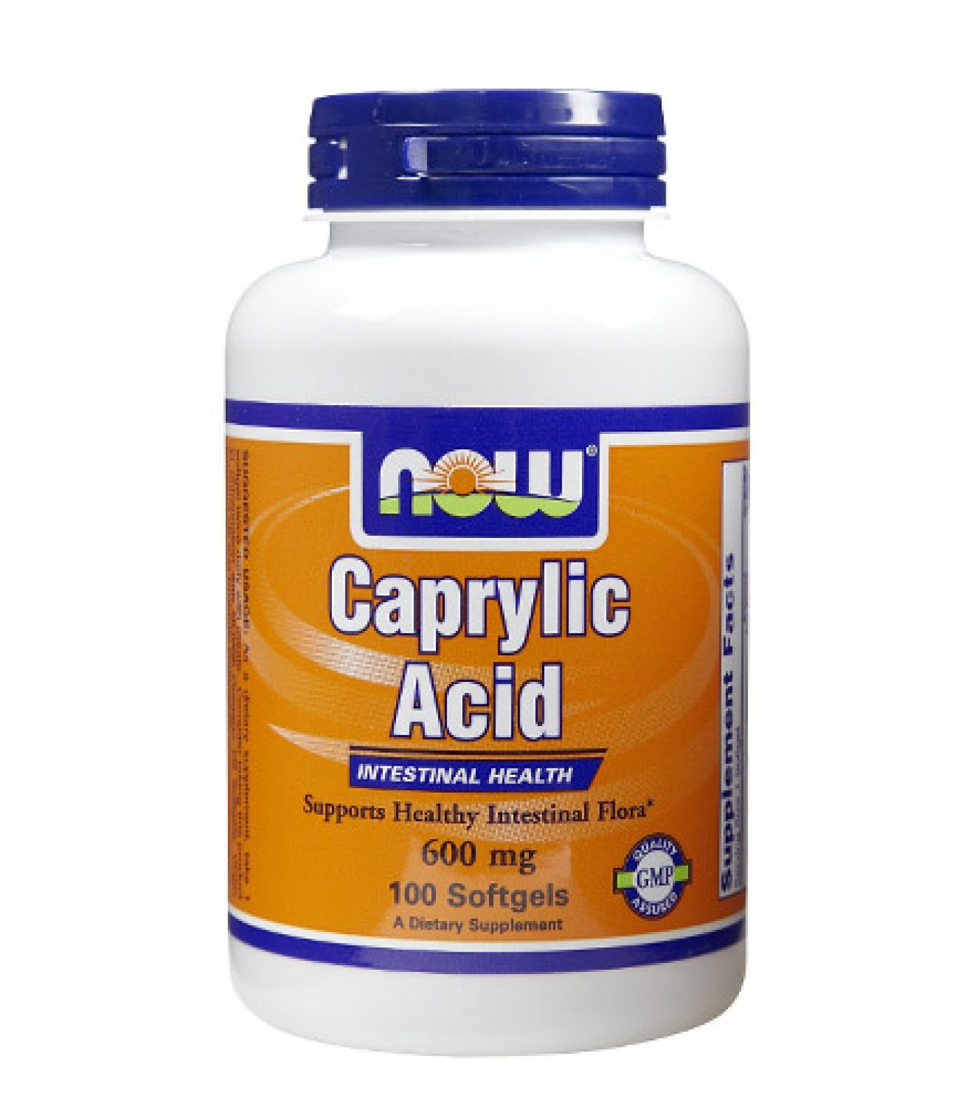 NOW - Caprylic Acid 600mg. / 100 softgels