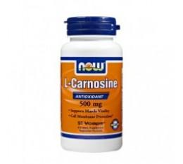NOW - Carnosine 500mg. / 50 caps. Хранителни добавки, Антиоксиданти