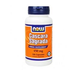 NOW - Cascara Sagrada 450mg. / 100 caps.