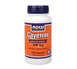 NOW - Cayenne 500mg. / 100 caps. Хранителни добавки, Отслабване