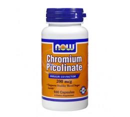 NOW - Chromium Picolinate 200mcg. / 100 caps. Хранителни добавки, Хром Пиколинат, На билкова основа