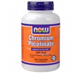 NOW - Chromium Picolinate 200mcg. / 250 caps. Хранителни добавки, Хром Пиколинат, На билкова основа