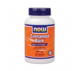 NOW - Cinnamon Bark 600mg. / 120 Caps. Хранителни добавки, На билкова основа