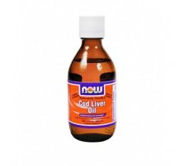 NOW - Cod Liver Oil / 200ml. Хранителни добавки, Мастни киселини, Рибено масло