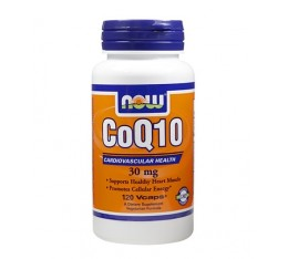 NOW - CoQ10 30mg. / 120 VCaps. Хранителни добавки, Антиоксиданти, Коензим Q10