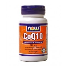 NOW - CoQ10 60mg. + Omega 3 Fish Oils 60mg. / 30 Softgels