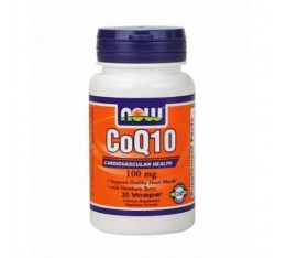 NOW - CoQ10 with Hawthorn Berry 100mg. / 30 VCaps.