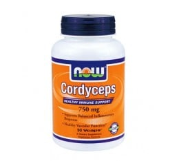NOW - Cordyceps 750mg. / 90 VCaps. Хранителни добавки, Здраве и тонус