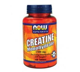 NOW - Creatine Monohydrate 1500mg. / 100 Tabs. Хранителни добавки, Креатинови продукти, Креатин Монохидрат