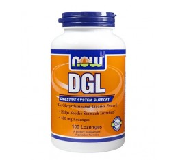 NOW - DGL 400mg. / 100 Loz. Хранителни добавки, Здраве и тонус