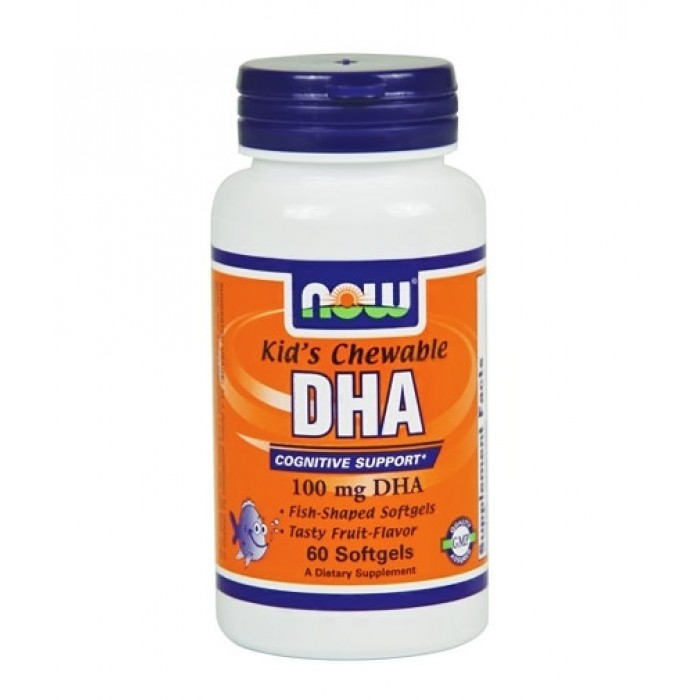 NOW - DHA Kid's Chewable 100mg. / 60 Softgels