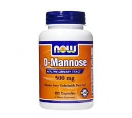 NOW - D-Mannose 500mg. / 120 Caps. Хранителни добавки, Здраве и тонус, Формули за жени