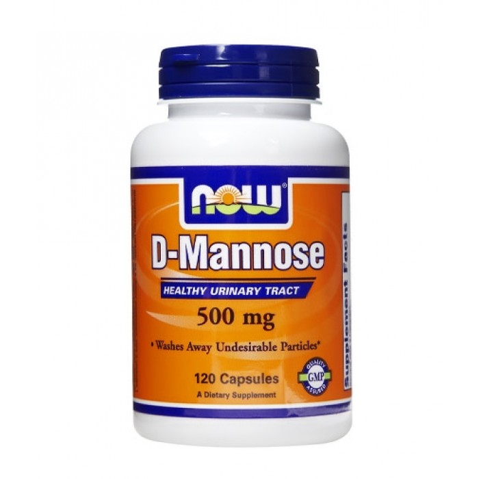 NOW - D-Mannose 500mg. / 120 Caps.