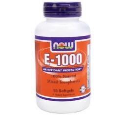NOW - Vitamin E-1000 IU (Mixed Tocopherols) / 50 Softgels Хранителни добавки, Витамини, минерали и др., Витамин E