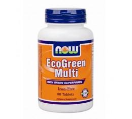 NOW - Eco-Green Multi / 60 Tabs. Хранителни добавки, Мултивитамини