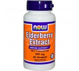 NOW - Elderberry Extract 500mg - 60 vcaps.