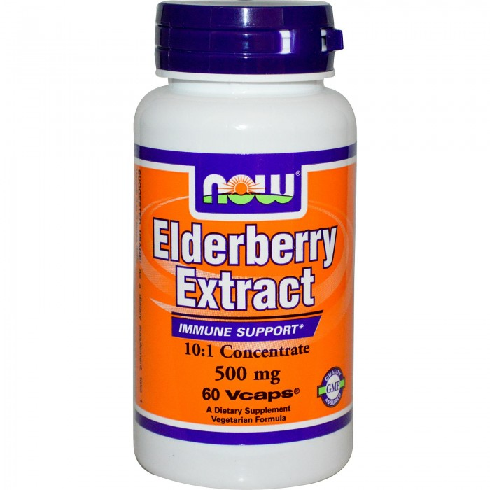 NOW - Elderberry Extract 500mg - 60 vcaps.