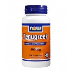 NOW - Fenugreek 500mg. / 100 caps.
