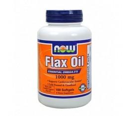 NOW - Flax Oil 1000mg. / 100 Softgels Хранителни добавки, Мастни киселини, Омега 3-6-9