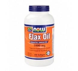 NOW - Flax Oil 1000mg. / 250 Softgels Хранителни добавки, Мастни киселини, Омега 3-6-9