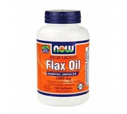 NOW - Flax Oil (High Lignan) 1000mg. / 120 Softgels. Хранителни добавки, Мастни киселини, Омега 3-6-9