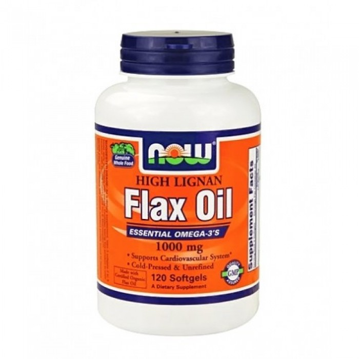 NOW - Flax Oil (High Lignan) 1000mg. / 120 Softgels.