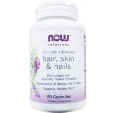 NOW - Hair, Skin & Nails - 90 caps. Хранителни добавки, Здраве и тонус