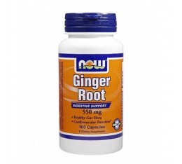 NOW - Ginger Root 550mg. / 100 Caps.