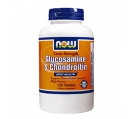 NOW - Glucosamine & Chondroitin Sulfate Extra Strength / 120 Tabs.
