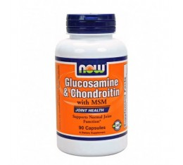NOW - Glucosamine & Chondroitin with MSM / 90 Caps. Хранителни добавки, За стави и сухожилия