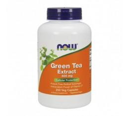 NOW - Green Tea Extract 400mg. / 250 Caps. Хранителни добавки, Антиоксиданти, Зелен чай