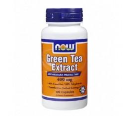 NOW - Green Tea Extract 400mg. / 100 Caps. Хранителни добавки, Антиоксиданти, Зелен чай