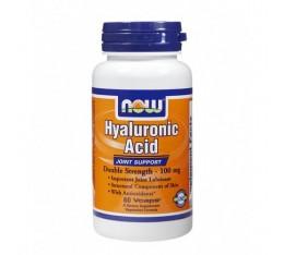 NOW - Hyaluronic Acid 100mg. / 60 Caps. Хранителни добавки, За стави и сухожилия