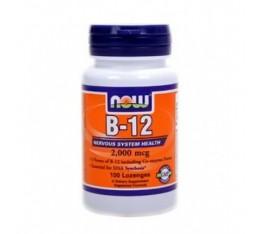 NOW - B-12 (2000mcg.) / 100 caps. Хранителни добавки, Витамини, минерали и др., Витамин B