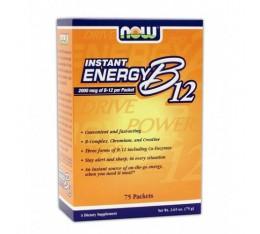 NOW - Instant Energy B-12 / 75 Packs Хранителни добавки, Витамини, минерали и др., Витамин B