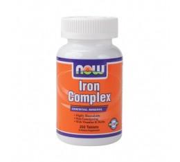 NOW - Iron Complex / 100 Tabs. Хранителни добавки, Витамини, минерали и др., Желязо