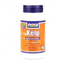 NOW - Kelp 150mcg. / 200 Tabs. Хранителни добавки, Витамини, минерали и др.
