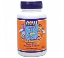 NOW - Kid Cal / 100 ChewTabs. Хранителни добавки, Витамини, минерали и др., Калций и Магнезий