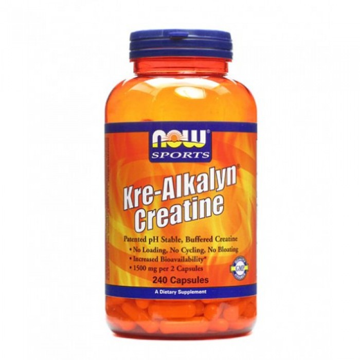 NOW - Kre-Alkalyn ® Creatine / 120 Caps.