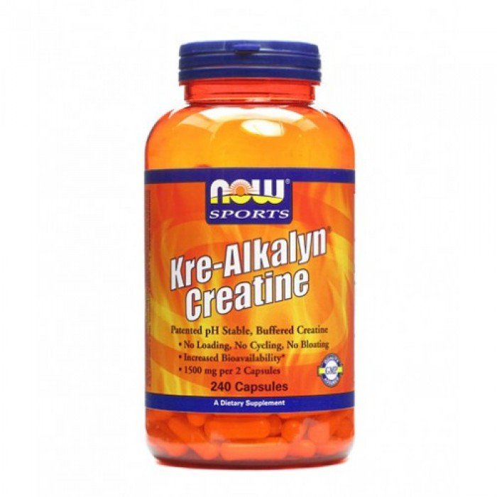 NOW - Kre-Alkalyn ® Creatine / 240 Caps.
