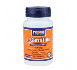 NOW - L-Carnitine 500mg. / 30 VCaps. Хранителни добавки, Отслабване, Л-Карнитин