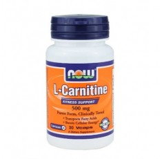 NOW - L-Carnitine 500mg. / 30 VCaps.